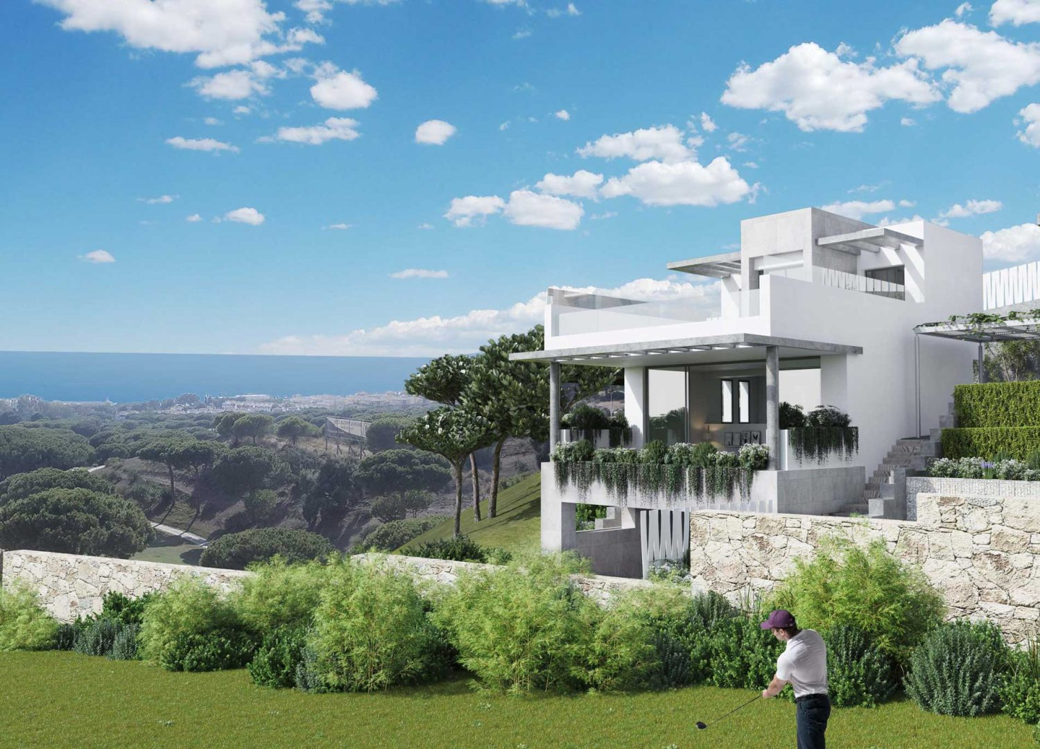 The Cape Exclusive residential complex made up of 23 townhouses and 2 independent villas in Cabopino