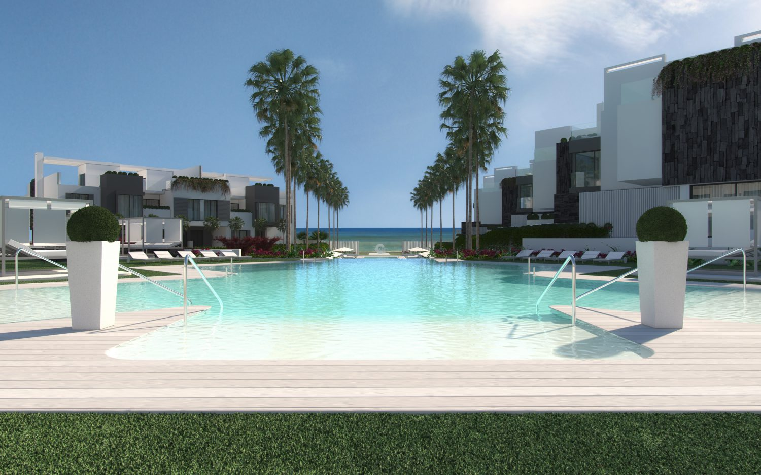 The Island, Exclusive contemporary style First Line Beach townhouse setting