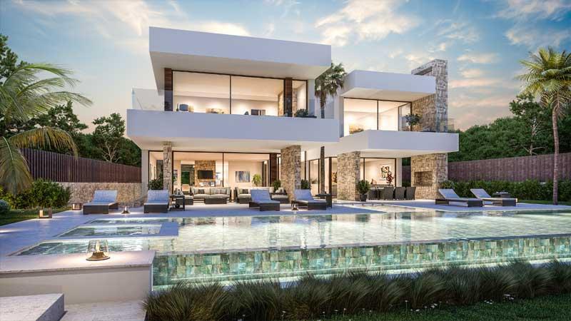 Modern Villa For Sale in Guadalmina Baja, Marbella.